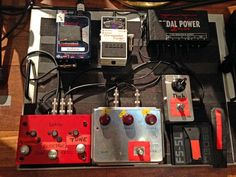 Pixies' Charles Thompson keeps his pedalboard fairly spare. He keeps his axes in tune with a Boss TU-2, uses a Klon Centaur for overdrive, and gets some silicon-fuzz action with a 1-knob Duh pedal built by none other than Premier Guitar senior editor Joe Gore. A Boss FS-5L activates his Vox's tremolo circuit. Thompson powers his pedals with a Voodoo Lab Pedal Power 2 Plus, and he uses a Lehle Dual SGoS to switch between his tuner and his electric and acoustic signal paths