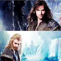Fili and Kili. My fav boys.and Thorin too :) Hobbit 3, The Hobbit Movies, The Misty Mountains Cold, Fili And Kili, Desolation Of Smaug, An Unexpected Journey, Bilbo Baggins, Jrr Tolkien, Raining Men