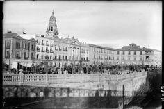 Murcia, Glorieta 1930 Ayuntamiento. Parece una foto del portugués apellidado Pasaporte
