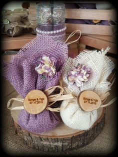 Rustic Nişan hediyelikleri Birthday Decorations, Wedding Decorations, Burlap Bags, Lavender Bags, Wedding Gifts For Guests, Natural Essential Oils, Biscuit, Flower Arrangements, Diy And Crafts