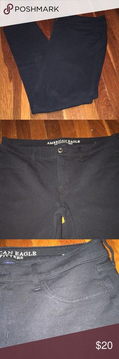 Knit jegging Black super stretch knit jegging, very minor pilling at crotch, EUC American Eagle Outfitters Pants