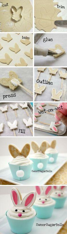 DIY Bunny Cupcakes