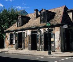 New Orleans, Jean Lafitte's blacksmith shop, now a bar.  Thought to be the oldest building in NOLA