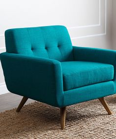 Look at this Blue Kenner Tufted Armchair on #zulily today!