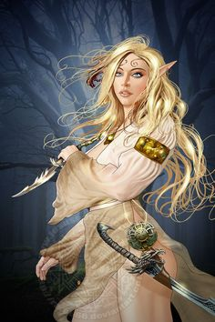 f High Elf Sorcerer Robes Dagger Longsword Deciduous forest Community Tower by lg & xlg (saved) Girls Characters, Fantasy Characters, Female Characters, Character Portraits, Character Art, Elf Images, Dnd Elves, Anime Elf, High Elf
