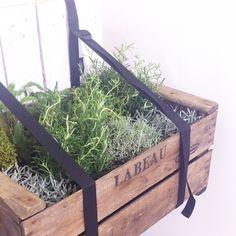 Des bretelles de balcon associer avec une caguette recyclée pour créer une jardinière DIY