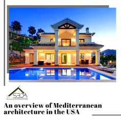 Mediterranean architecture has become a trend, particularly in the United States. As a result, Mediterranean home design became incredibly popular. Mediterranean Architecture, Mediterranean Style, Architecture Facts, Construction Design, Design Development, Building Design, Fun Facts, This Is Us, Spanish