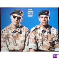 Pet Shop Boys pin up poster army outfits and berets
