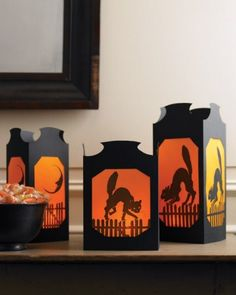 Halloween table lanterns quot in our indoor halloween decorations gallery