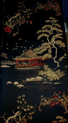 Asian Pagoda Chinoiserie Retro by Sarasotalife Ha Wallpaper, Asian Wallpaper, Chinese Wallpaper, Chinoiserie Wallpaper, Wallpaper Backgrounds, Oriental Wallpaper, Most Beautiful Wallpaper, Asian Decor, China Art