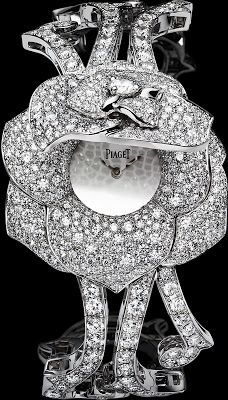 2Piaget Rose Watch, 35mm in diameter, the body of 18-carat gold with diamonds