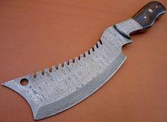Custom Handmade Damascus Steel Kitchen Cleaver Knife by Tycoon Enterprises
