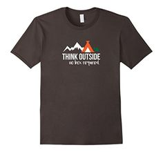 Men's Think Outside | No box Required Funny Hiking Nature Shirt XL Asphalt - Brought to you by Avarsha.com