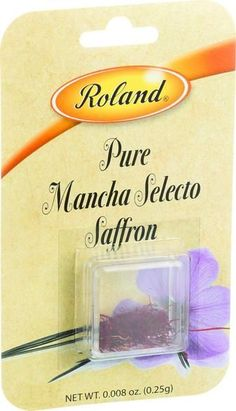 Roland Products Saffron - Glass Vial - .25 G - Case Of 10
