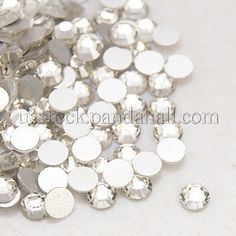 White Half Round Domed Imitation Pearls ABS Acrylic Beads Flat Back Pearl Cab#28