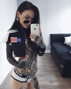tattoos for women websites in india free s.a online tattoos for women sexygirl for women family members ex Full Body Tattoo, Body Art Tattoos, Girl Tattoos, Tattoos For Women, Tattooed Women, Hot Tattoo Girls, Tattoed Girls, Inked Girls, Badass Tattoos
