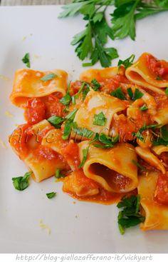 Calamarata siciliana con calamari ricetta facile vickyart arte in cucina