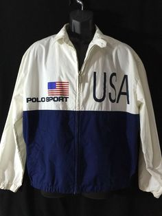 Ralph Lauren Polo Flag Sporty Jacket Red White