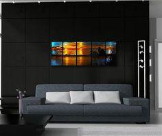 Alan Hopfensperger Eagle II Block Print Gallery Wrapped Canvas 36X36