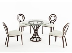 """Dania Twist Dining Table - hate the chairs, but the table might work @ 48"""" diameter"""