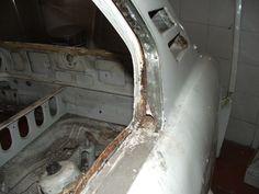 Rear left body panel cut