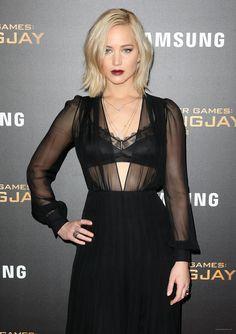 Jennifer Lawrence attending The Hunger Games Mockingjay Part 2 New York Premiere - November 18/ 2015