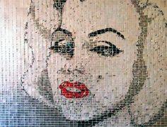 AluMosaics Artist Jeff Ivanhoe Replicates Famous Faces and Scenes Using Just Aluminum Cans