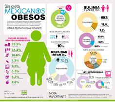 Mexicanos Obesos    {Salud y Comida} Porcentajes de obesidad en nuestro país & causas