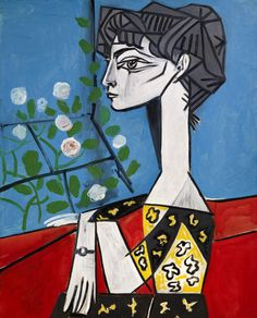 """art-history-corner: """" Madame Z (Jacqueline with Flowers) (1954), Pablo Picasso """""""