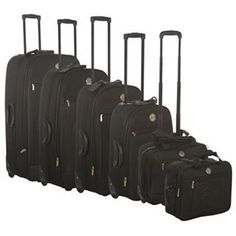 Six piece suitcase set. Reduced to £65 online- includes flight bag and hand luggage case.