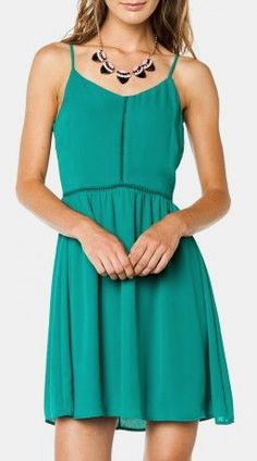Meira Dress in Forest Green