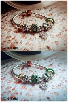 Beautiful green themed bracelet with sparkle Swarovski Taurus sign charm . Add some mystery to your collection. SOUFEEL jewelry, for every memorable day.