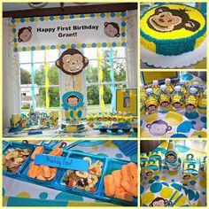 Mod Monkey Birthday Party!