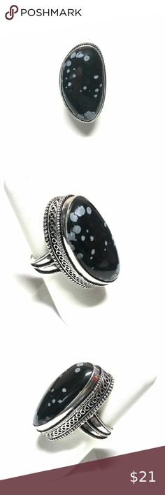 Ethnic Wear Handmade Jewelry Brown Solar Druzy Sterling Silver Overlay Ring Size 7 US