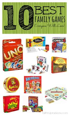 10 Best Family Games | Faithful Provisions  >> We've played half of these and really like them, will have to check out the others :)