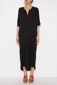 BLACK CAFTAN DRESS BY RAQUEL ALLEGRA | SHOPHEIST.COM