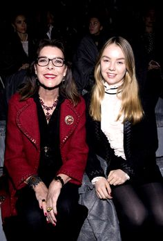 Princess Caroline, together with her youngest daughter Princess Alexandra of Hanover,