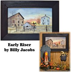 Early Riser Framed Print by Billy Jacobs Most Popular Artists, Farm Paintings, The Magicians, Folk Art, Cable, Framed Prints, Chicken, Country, Artwork