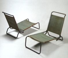 Canvas Lounge Chairs | Charlotte Perriand