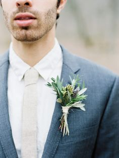 Erich McVey; A Beautifully Green Tennessee Wedding from Erich McVey - boutonniere
