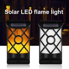 New Product Flame Light Fire Decor Lamp Garden Solar Solar Wall Lights, Solar Lamp, Garden Lamps, Light Decorations, Outdoor Lighting, Fire, Exterior Lighting
