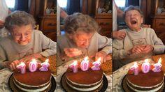 Beim Kerzen ausblasen, fliegt dem Geburtstagskind das Gebiss raus