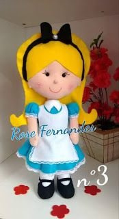 Artesanato e Moldes para Imprimir: Diversos moldes de Alice no País das maravilhas Princess Peach, Dolls, My Love, Disney, Gifts, Fictional Characters, Facebook, Felt Dolls, Fabric Dolls