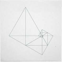 Archimedes' turbine – minimal geometric composition. Golden Triangles l Sacred Geometry