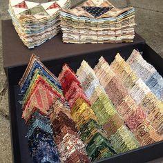 Ready for the next 44 pyramids. #panamapyramidssewalong2016 #EPP #quiltno45agRatzer
