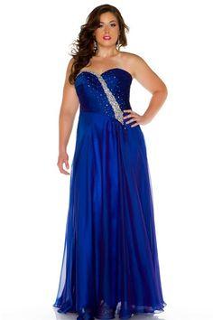 plus size quinceanera dress royal blue