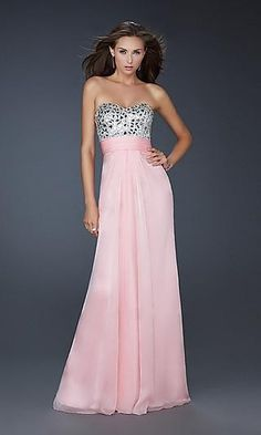 la femme ruched chiffon gown the choice of successful people one unifying feature - Offer La Femme Dresses. Chiffon Evening Dresses, Evening Gowns, Strapless Dress Formal, Formal Dresses, Chiffon Gown, Beaded Chiffon, Evening Party, The Dress, Pink Dress