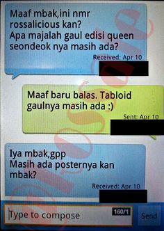 Salah satu SMS transaksi yang terjadi pada periode kedua April 2015.