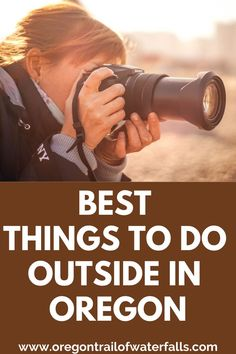 These are the BEST things to do outside in Oregon! You're gonna want to bring your camera!! Oregon City, Oregon Coast, Oregon Trail Game Online, Oregon Wine Country, Oregon Waterfalls, History For Kids, Columbia River Gorge, Oregon Travel, Outdoor Activities