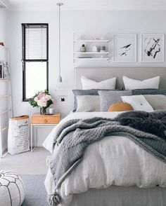 Home Interior Plants 40 Grey and White Bedroom Ideas.Home Interior Plants 40 Grey and White Bedroom Ideas Home Decor, Modern Bedroom, Small Bedroom, Scandinavian Design Bedroom, Simple Bedroom, Neutral Bedrooms, Remodel Bedroom, Interior Design Bedroom, Master Bedrooms Decor